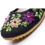 ينتفخ [جوتّي] عصريّ أحذية يطرق [لينن] زهرة [سليب-ون] زورق أحذية