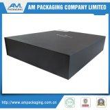 Caixa de papel de empacotamento de dobramento do estilo da caixa negra gigante da caixa de sapata da parte dianteira de gota