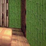 Pintado pared del color verde de diseño de bambú barato decorativo 3D