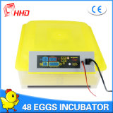 Incubadora automática marcada del huevo del Ce de Hhd mini para la venta (YZ8-48)