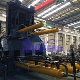 Bala de aço da sucata hidráulica automática que faz a máquina