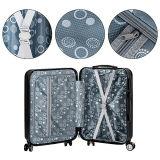 3 Stück gesetztes expandierbares ABS Laufkatze-Gepäck mit Tsa Verschluss und 4 Rädern