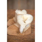 Zapatos calientes de los botines del bebé de la zalea del invierno con suavemente la planta del pie