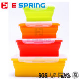 OEM 4 Pieces Silicone Folding Kids Lunch Box Set