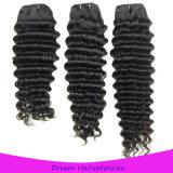 Надкожицы волосы девственницы глубокой волны Intact Unprocessed дешевые бразильские