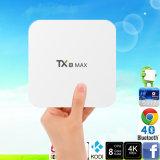 réseau local maximum 4k H. 265 Media Player du WiFi 3GB 16GB Bluetooth 1000m du cadre 2.4/5GHz de l'androïde 6.0 TV de faisceau de 3GB DDR4 32GB Tx8 Amlogic S912 Octa