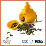 Setaccio stabilito del foglio di Infuser del tè sottomarino del silicone del commestibile Ws-If059 per la tazza della tazza, POT del tè