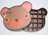 Rectángulo encantador del chocolate del papel de la dimensión de una variable del oso