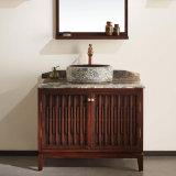 Cabinet de miroir de salle de bain étanche en bois massif en cendre (GSP14-014)