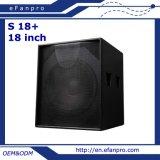 Heißer Verkauf sondern den 18 Zoll-Berufsbaß-Lautsprecher Subwoofer aus (S 18+)