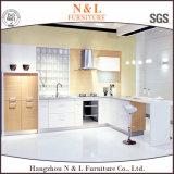 L Form-Spanplatte stellte Melamin-Schrank-Küche-Möbel gegenüber