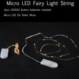 R2032 Koord van het Micro- van de Batterij Lichten van het LEIDENE 2m de Zilveren Koper 20LED