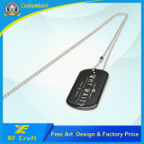 Modifica militare di nome/Pet/ID/Dog di modo di promozione del metallo su ordinazione all'ingrosso dell'acciaio inossidabile con il marchio della stampa e la collana (XF-DT06)