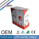 Câble LAN Du prix usine de Sipu 0.4CCA UTP Cat5e pour le réseau
