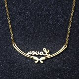女王の方法宝石類のステンレス鋼の花の吊り下げ式の文字のネックレス