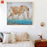 野性生物の動物の壁映像象の油絵