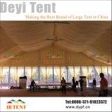 Tienda al aire libre del acontecimiento de la exposición con la pared de cristal y la guarnición