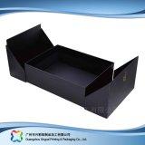 Visualización caja de embalaje plegable de madera/de la cartulina para el regalo/el cosmético (xc-hbc-010)