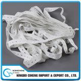 Großverkauf-Kleid-großes breites flaches Knopfloch-Gummiband-gewebtes Material