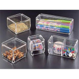 Personnaliser la boîte de présentation acrylique claire de mémoire de supermarché