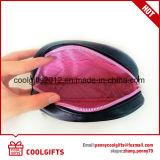 Saco cosmético superior de couro do plutônio da forma do escudo da forma para senhoras