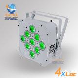 Rashaディスコクラブ党のためにリモート・コントロールIRの新しく熱い9*15W 5in1 Rgbawの電池式の無線電信LEDの同価ライト