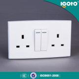 Igoto British Standard DL3013 double socket avec interrupteur 13 A avec 2 commutateur de gangs