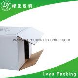 백색 주문 로고에 의하여 인쇄되는 물결 모양 화물 박스