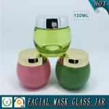 120ml leeren grünes farbiges Gesichtsschablonen-Glas-Glas
