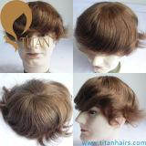 남자를 위한 브라운 색깔 머리 시스템 머리 피스 Toupee