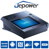 10 (q)インチのJepower T508Aの接触POSのターミナル指紋読取装置