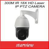 Veiligheid 300m IP PTZ van de Laser van IRL 18X HD de Camera van kabeltelevisie