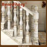 Бронзовой Railing лестницы алюминия отливки цвета изогнутый виллой (SJ-B033)