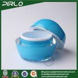 la plastica di plastica blu di lusso del contenitore di imballaggio della crema di cura di pelle di 10g 30g 50g stona il vaso crema cosmetico materiale acrilico con il coperchio