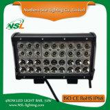 Barra chiara del quadrato LED di 4 righe per la jeep movente fuori strada di SUV ATV che determina l'indicatore luminoso di azionamento del camion 72W 7000lumen