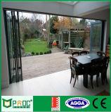 Porte métallique bi-pliante en aluminium pour balcon