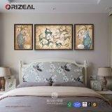 Peinture acrylique abstraite faite sur commande fixée au mur d'Orizeal