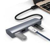 4 portas USB 3.1 Tipo-C para USB 3.0 Hub Alumínio Design USB multifunções