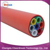 Enterrado directo de soplado de aire del tubo de HDPE de cable de fibra óptica