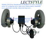 24V 276W моторы 120rpm ые & правые силы электрической кресло-коляскы с рукояткой & регулятором кнюппеля