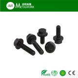 Oxid-Hex Flansch-Kopf-Schraube DIN6921 des M8 M10 Kohlenstoffstahl-Grad-8.8 schwarzes des Grad-10.9