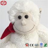 Jouet mou se reposant de peluche de fantaisie de qualité bourré par singe blanc pelucheux