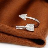 Новым кольцо кристалла стрелки способа прибытия 2017 покрынное серебром