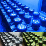 Luz PAR impermeable RGBW DMX 54X3W LED con el CE RoHS