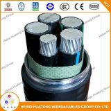 Datilografar o cabo de Mc com núcleo 3 ou 4 os condutores Xhhw-2 de alumínio encalhados estojo compato de 8000 séries. cabo de alumínio 1-1-1-3 de Mc do condutor 600V