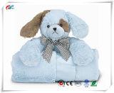 """28,5"""" x 28,5"""" Super Macio Design Cão de pelúcia abraça-Me Manta de tamanho total de patches"""