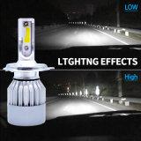 Nuovo faro H4 di Fanless LED di luminosità della parte superiore di arrivo con la lampada di coda del LED ed il kit NASCOSTO della lampadina (40W 4500lm)