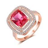 Boucle rose de luxe de mode de pierre gemme de Zirconia de bijou artificiel