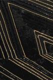 Opgesmukte het knipsel omfloerst de Zwarte en Gouden Toga van de Toga