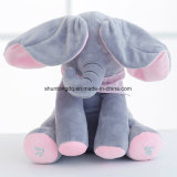 [30كم] نظرة خاطفة جديدة استهجان فيل يحشى لعبة ليّنة حيوانيّة لعبة لعبة لون موسيقى فيل لعبة تربويّ [أنتي-سترسّ] لأنّ أطفال طفلة هبة